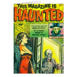 Cómic de Halloween del vintage Tarjeta De Felicitación