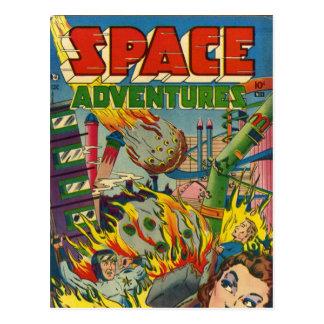 Cómic de los aventureros del espacio postales