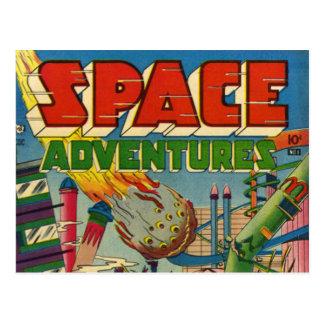 Cómic de los aventureros del espacio tarjeta postal