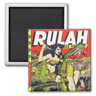 Cómic del Rulah-Vintage Imán Cuadrado