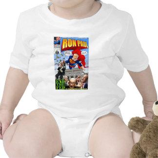Cómic del superhéroe de Ron Paul Traje De Bebé