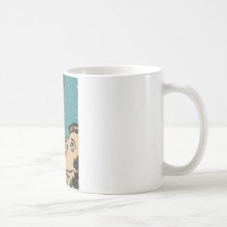 cómic del vintage villan taza básica blanca