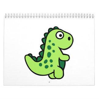 Comic dinosaur calendar