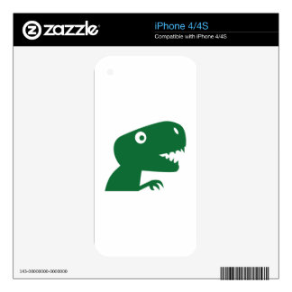Comic dinosaur decal for the iPhone 4