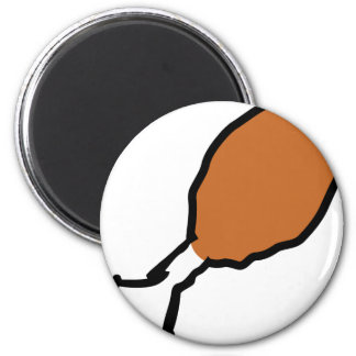 comic drumstick meat 2 inch round magnet