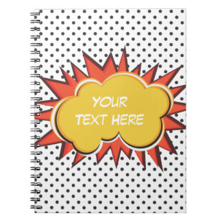 Comic Explosion Spiral Notebook