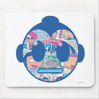 Comic Face Mouse Pad