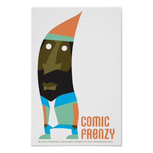 Comic Frenzy Gnome Poster