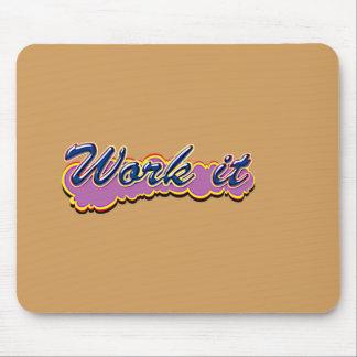 Comic Girl E Work it2. 136x136@3x 408x408 Mouse Pad