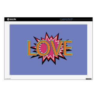 Comic Girl Laptop Decal