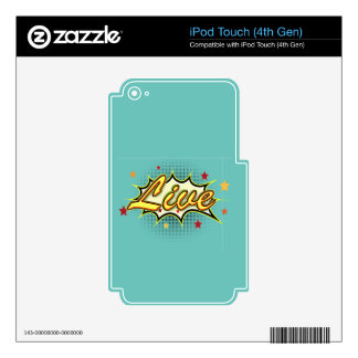 Comic Girl Skins For iPod Touch 4G