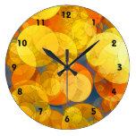 COMIC GOLDEN BUBBLES Clock