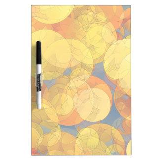 COMIC GOLDEN BUBBLES Dry Erase Board