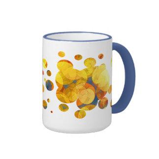 COMIC GOLDEN BUBBLES RINGER COFFEE MUG