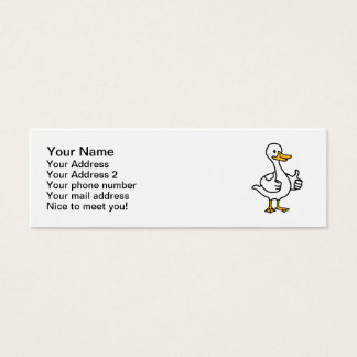 Comic goose mini business card