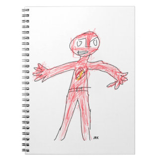 Comic Hero Doodle Art Notebook (80 Pages B&W)