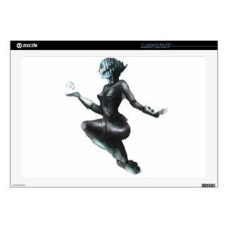 Comic Heroine / Fish Lady Laptop Skins