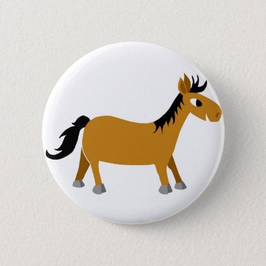 Comic horse button