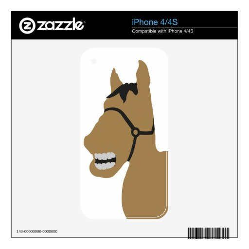 comic horse head decal for iPhone 4
