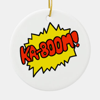 Comic 'Ka-Boom!' Ceramic Ornament