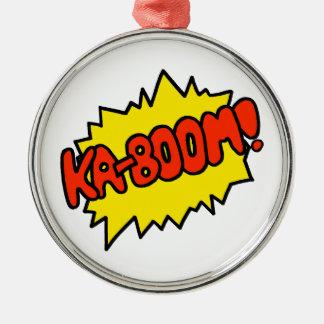 Comic 'Ka-Boom!' Metal Ornament