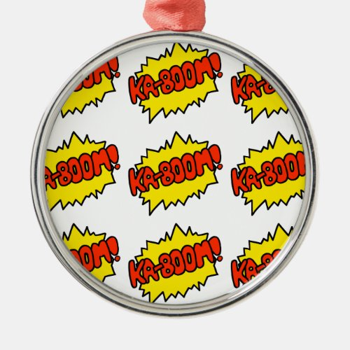 Comic 'Ka-Boom!' Metal Ornament