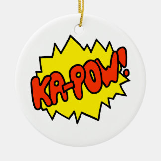 Comic 'Ka-Pow!' Ceramic Ornament