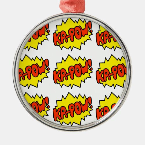 Comic 'Ka-Pow!' Metal Ornament