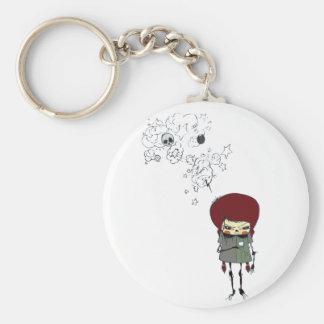 Comic lady keychain