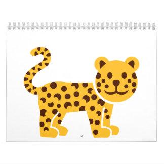 Comic leopard calendar