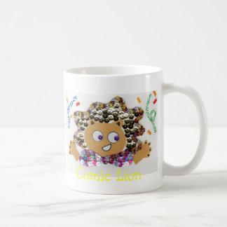 Comic Lion Classic White Coffee Mug