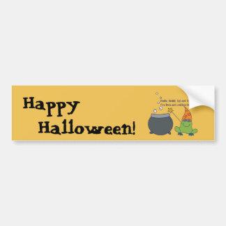 Comic McBeth Halloween Car Bumper Sticker