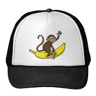comic monkey banana cowboy sheriff trucker hat