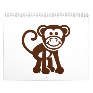Comic monkey calendar