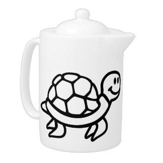 Comic ocean turtle teapot