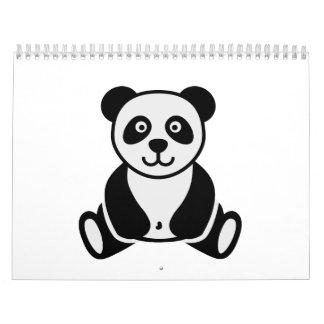 Comic panda calendar