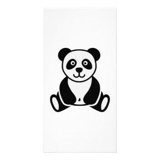 Comic panda photo card