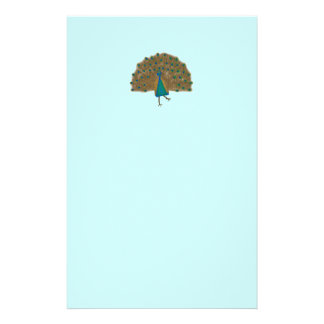 Comic Peacocks Pastel Stationery