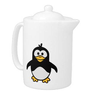 Comic penguin teapot