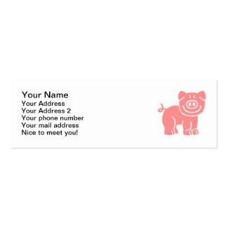Comic pig mini business card