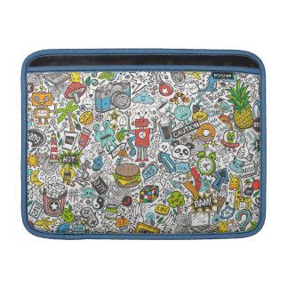Comic Pop art Doodle Sleeve For MacBook Air