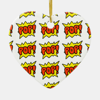 Comic 'Pop!' Ceramic Ornament