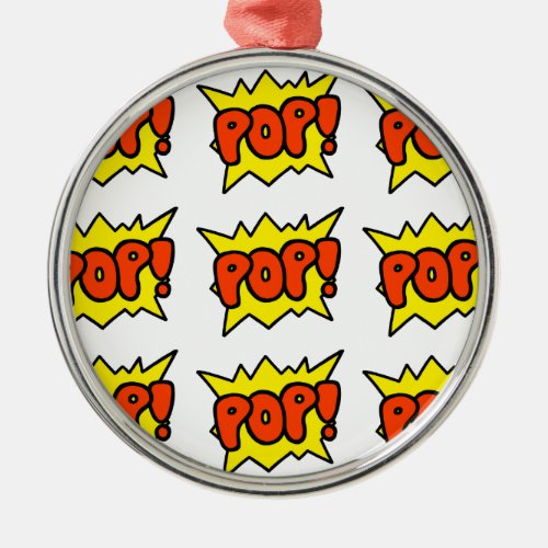 Comic 'Pop!' Metal Ornament