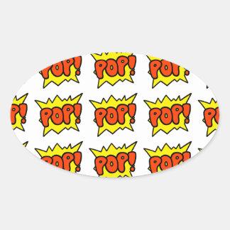 Comic 'Pop!' Oval Sticker