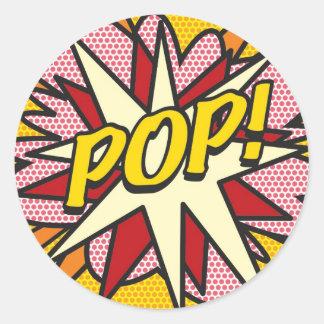 ¡Cómic POP! Pegatina Redonda