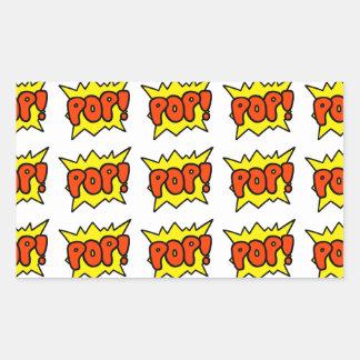 Comic 'Pop!' Rectangular Sticker