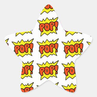 Comic 'Pop!' Star Sticker