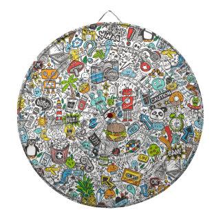 Comic Popart Doodle Dartboards