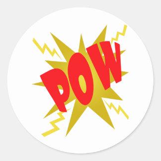 COMIC POW! CLASSIC ROUND STICKER