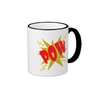 COMIC POW! RINGER COFFEE MUG
